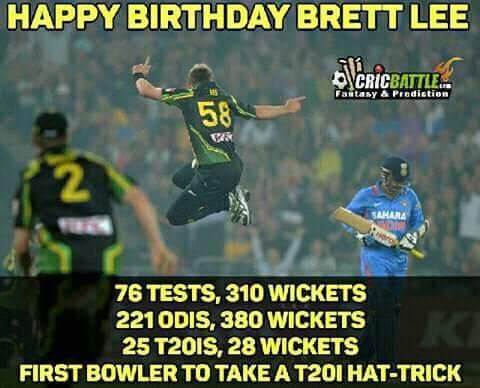Happy bday Brett Lee....