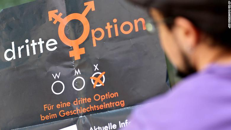 "Germany's top court rules that lawmakers must legally recognize a ""third gender"" from birth"