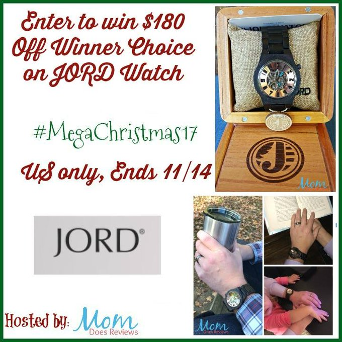 $180 towards a Jord Watch GA -1-US-Ends 11/14