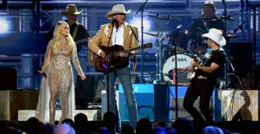 Politics free? Even country music awards poke Trump