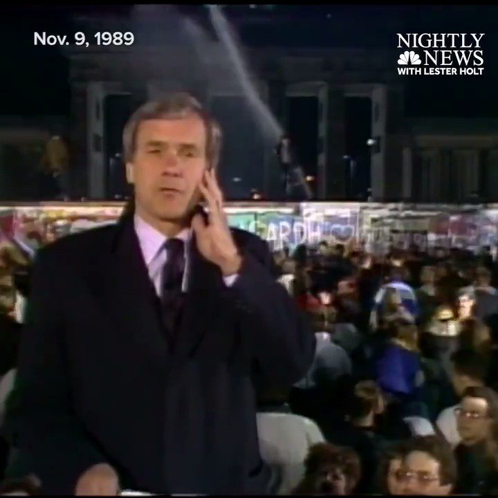 WATCH On this day in 1989, the Berlin Wall came down.@tombrokaw and Arthur Kent filed this report from Berlin.
