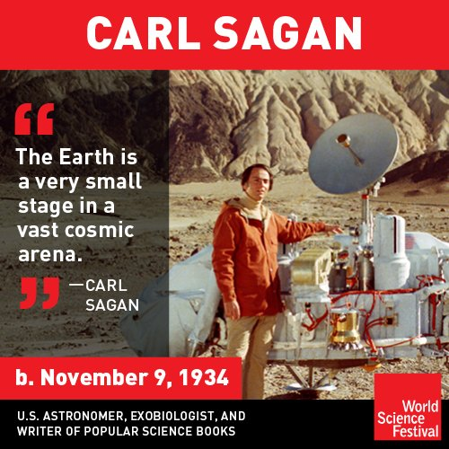 Happy birthday to the one-and-only Carl Sagan!