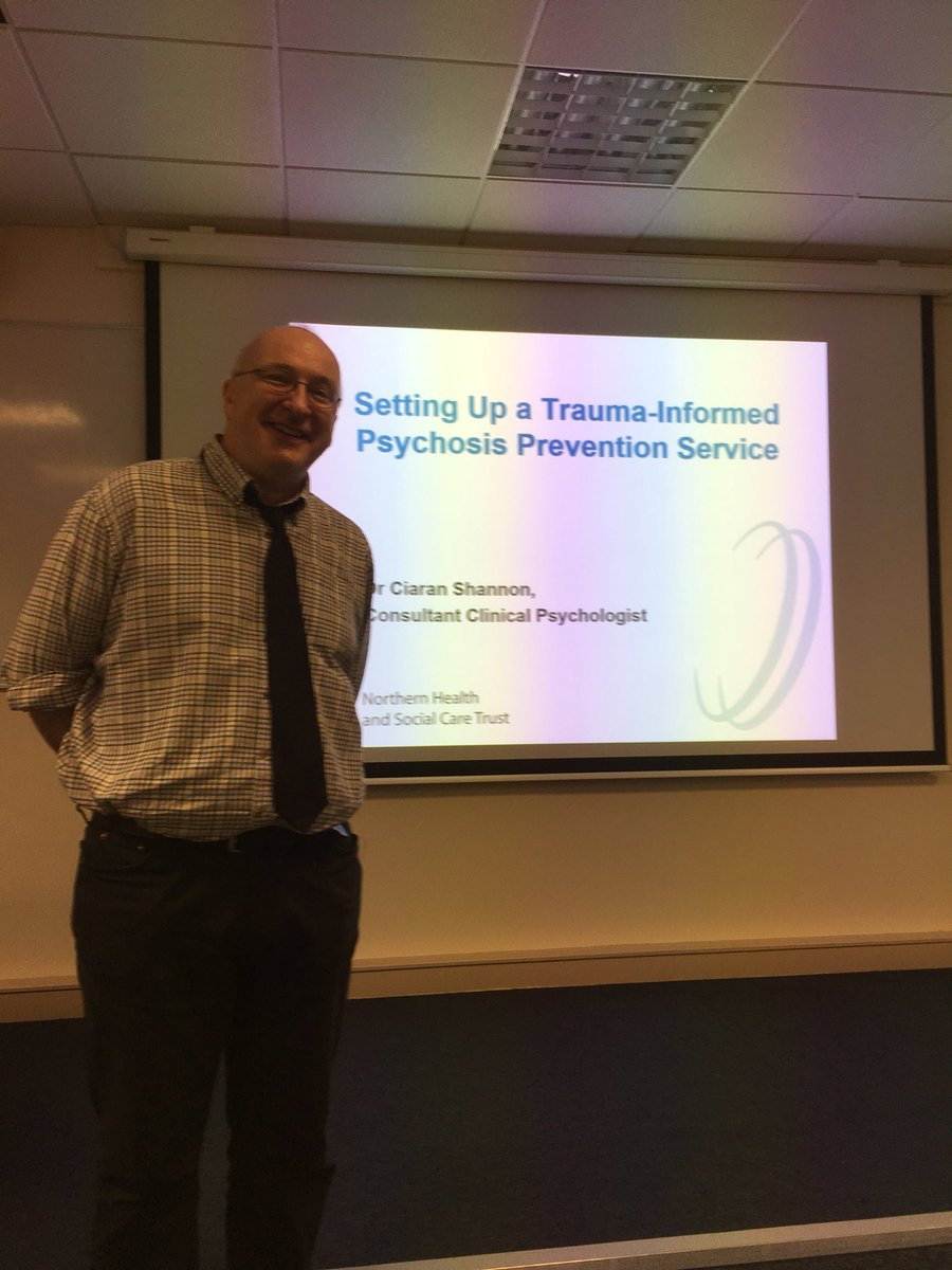 test Twitter Media - Dr Ciaran Shannon getting ready to kick off his talk on setting up a trauma-informed psychosis prevention service https://t.co/LIQnC2jIdR