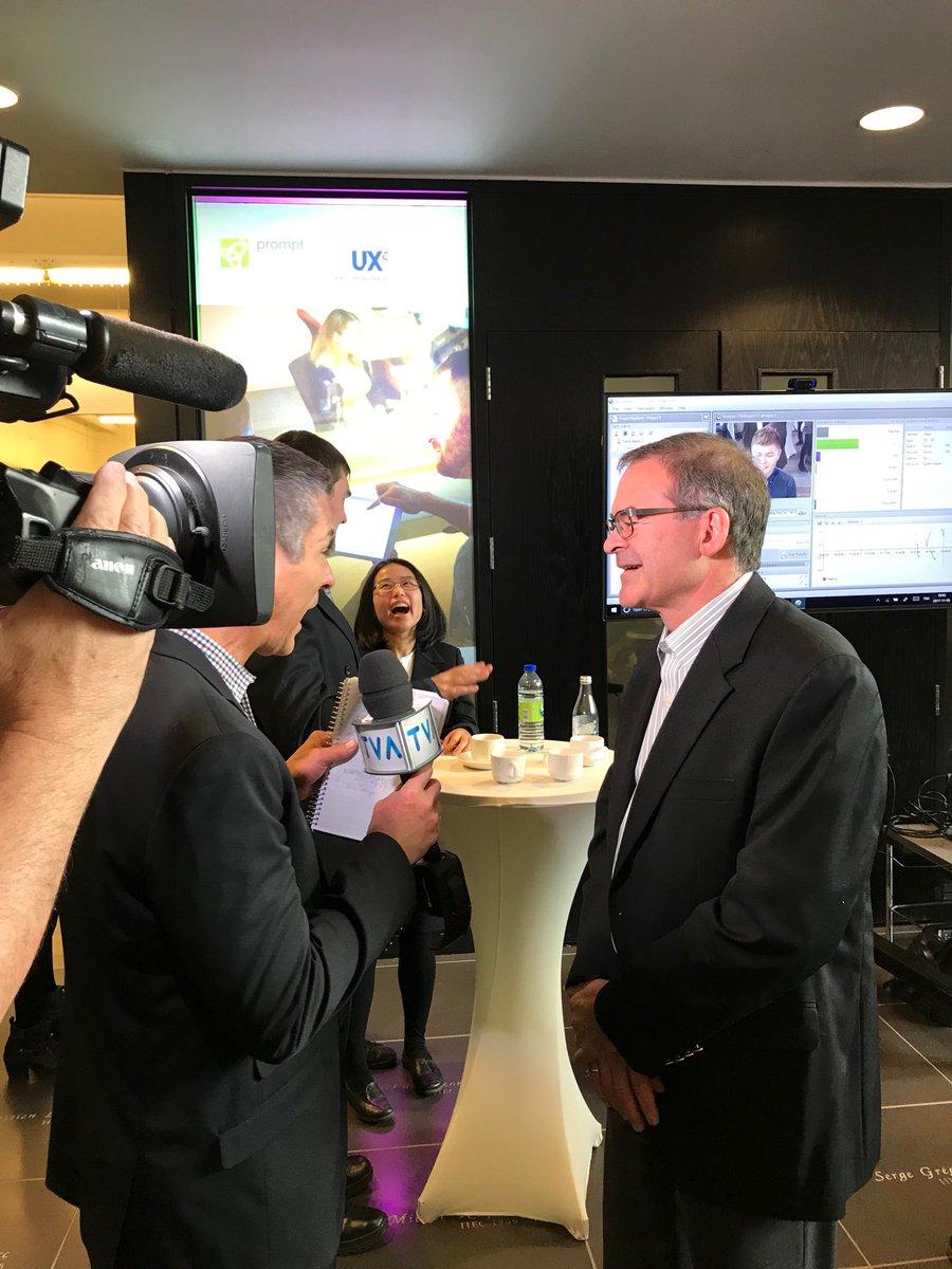 test Twitter Media - Entrevue de Claude Mc Master @TVAreseau  lors du lancement de la 1ère chaire de recherche industrielle en UX lancée par HEC MTL. https://t.co/uvb6BsoGrk