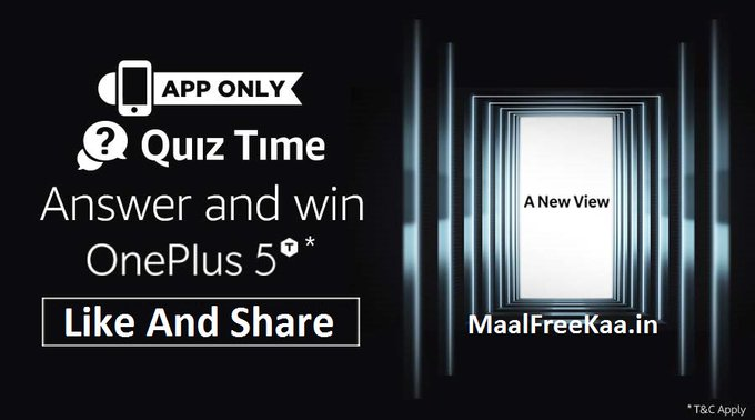 (Answer Added) Quiz Time Answer And Win OnePlus 5T