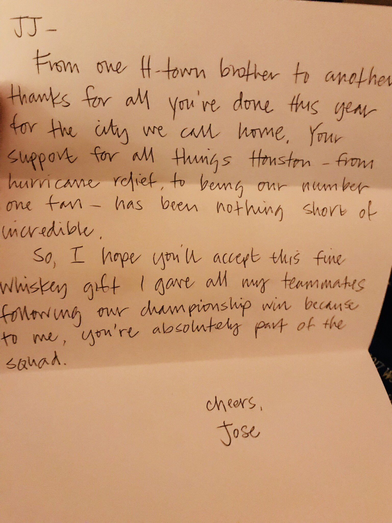 Much love @JoseAltuve27!!!  #MVP https://t.co/uEa1tLd1Ux