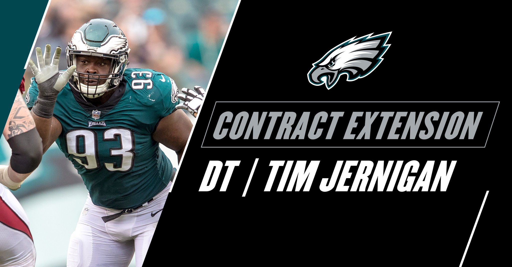 #Eagles have signed DT Tim Jernigan to a four-year contract extension through the 2021 season.  #FlyEaglesFly https://t.co/mjYcOzvbiZ