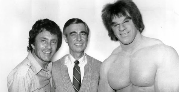 Happy birthday to Lou Ferrigno, seen here with a couple of his fellow superheroes