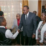 UHURU, MARGARET visit late WAHOME GAKURU's family in their Runda home (PHOTOs)