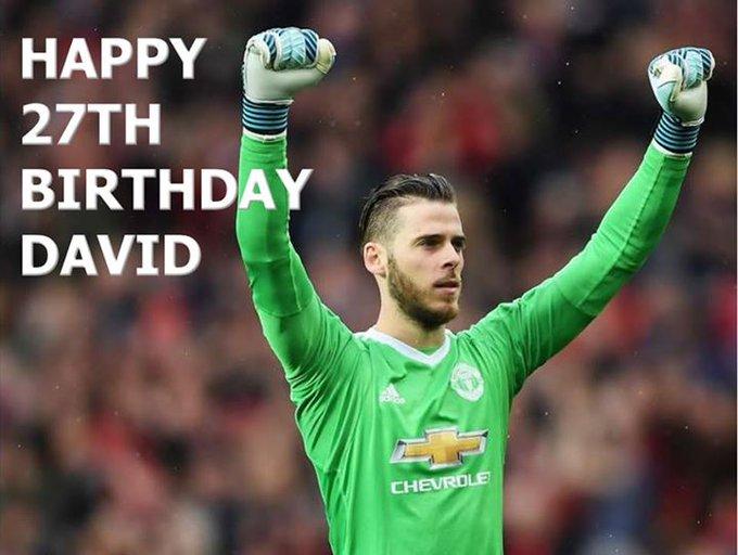 Happy Birthday David de Gea!