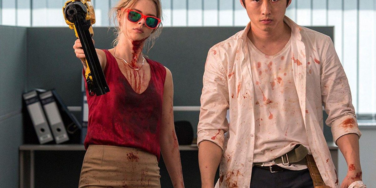 Review: 'Mayhem' climbs blood-stained corporate ladder