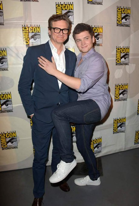 "COLIN FIRTH ADDICTED HAPPY BIRTHDAY ""TARON EGERTON\"" ^^"