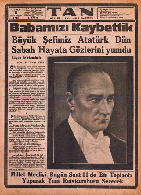 10 Kasım 1938 - Tan Gazetesi https://t.co/0E6BJkLTNV