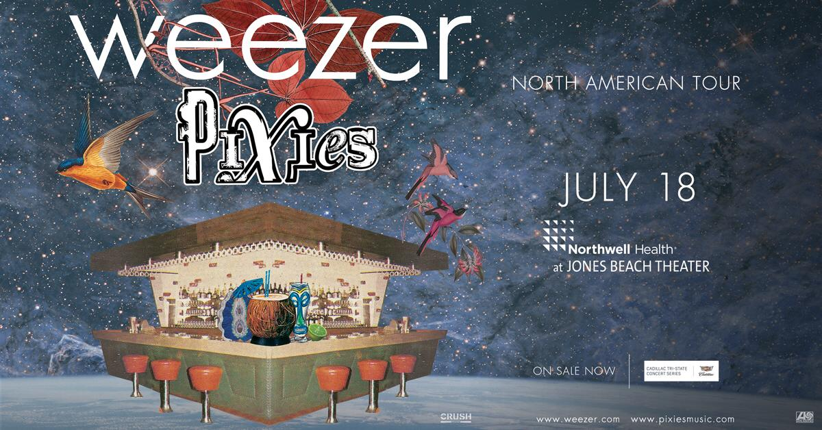 ON SALE NOW: @Weezer and @PIXIES are bringing their Summer 2018 tour here on July 18! https://t.co/0F85QWaFYt https://t.co/ttDHhukRuH