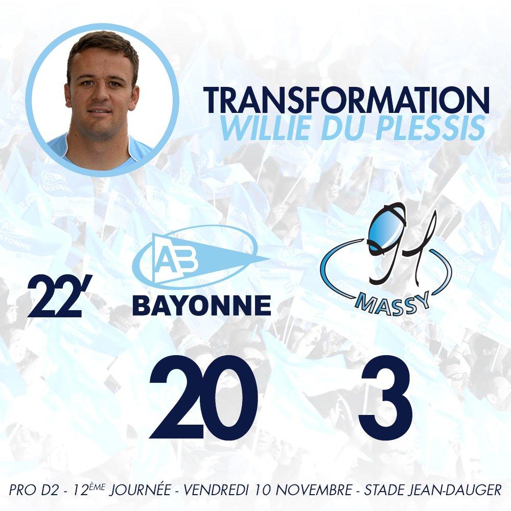 22' Transformation assurée par ce même Willie Du Plessis ! 20-3 #ABRCME https://t.co/6pP5FB0kGt