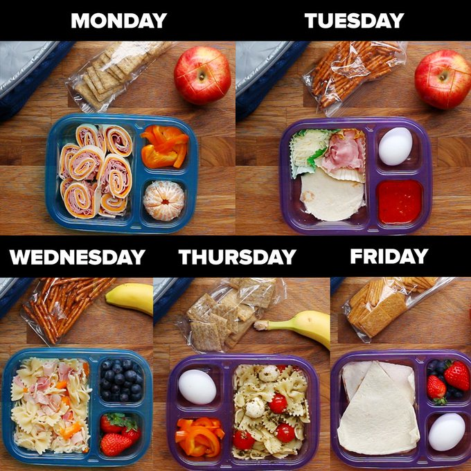 RT @DlYRecipes: Here's how to prep school lunch for your little ones ALL WEEK! 🍎 https://t.co/6xG9qf7950
