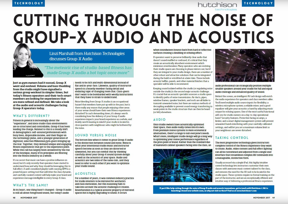 """Image for """"The meteoric rise of studio-based fitness has made GroupX audio a hot topic once one"""" - Check out pages 48-49 of this month's Gym Owner mag to read more: https://t.co/a7NDpUymri https://t.co/eJleVlhR3g"""