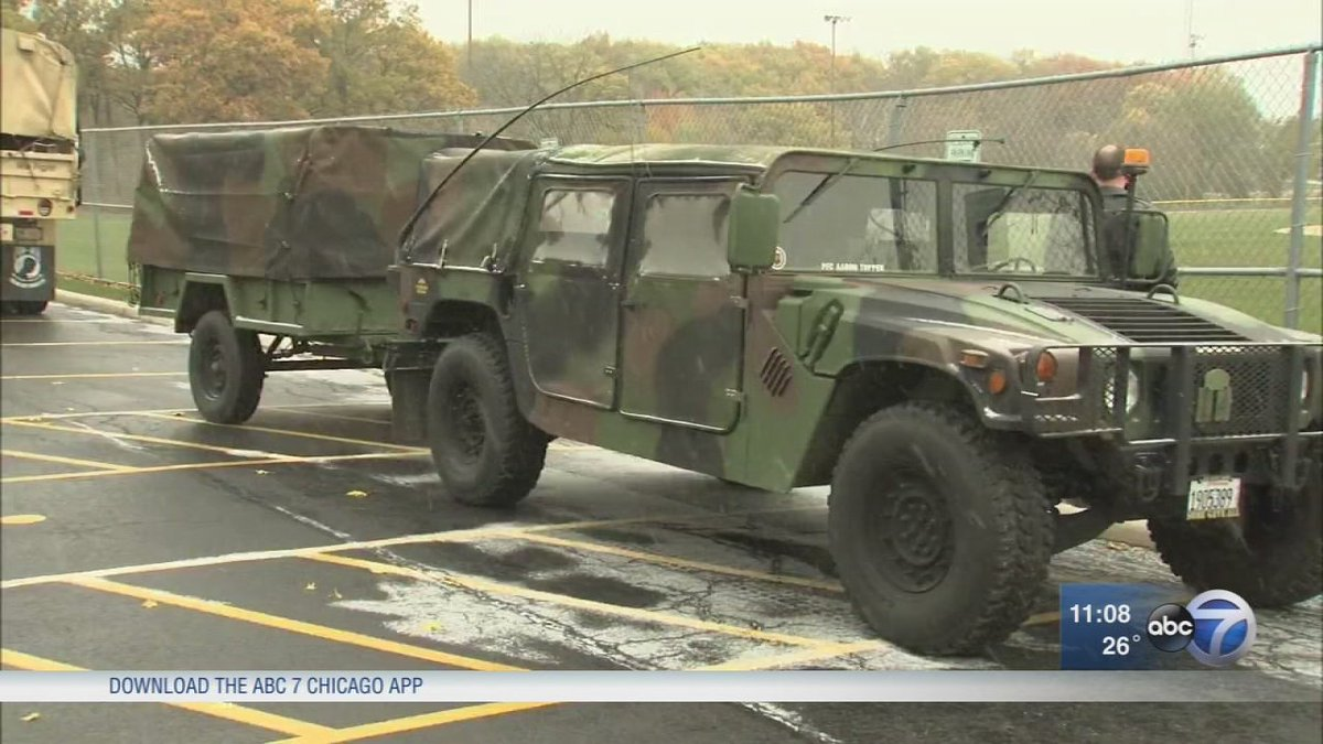 Historic vehicles on display for Veterans Day in Orland Park