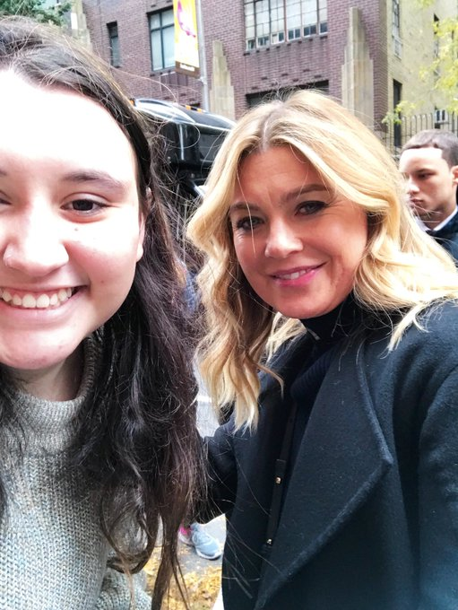 HAPPY BIRTHDAY ELLEN POMPEO!! I had the honor to wish her a happy birthday in person yesterday