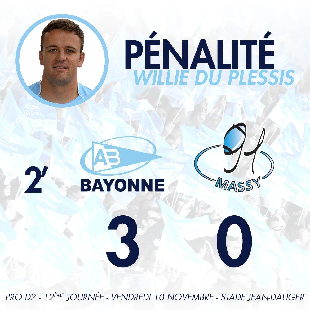 2' Ouverture du score ! 3 points marqués par Du Plessis #ABRCME https://t.co/akVO9LmuPQ