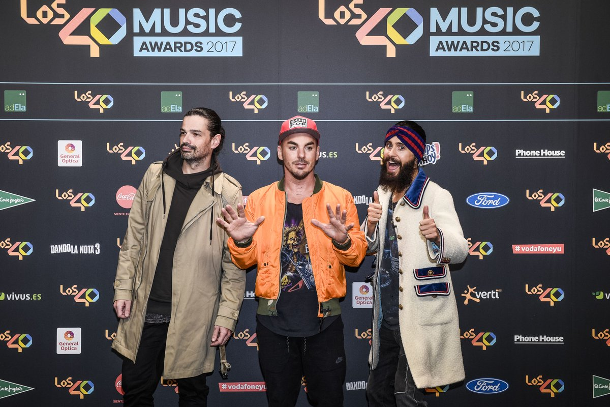 RT @Los40: ¡Ha sido brutal la actuación de @30SECONDSTOMARS ! ???? #los40musicawards https://t.co/DNCDabONDe