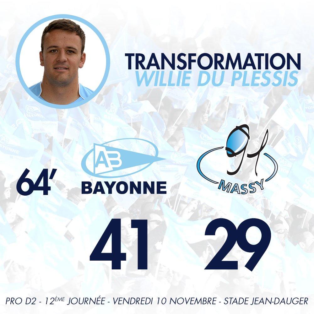 64' C'est transformé par W. Du Plessis ! 41-29 #ABRCME https://t.co/DPuRrPiHip