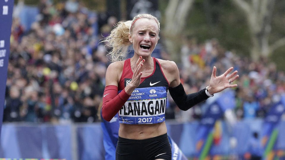 Shalane Flanagan still soaking in New York win, won't decide yet on Boston Marathon