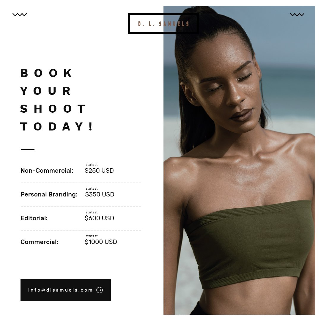 BOOK YOUR SHOOT info@dlsamuels.com https://t.co/Fo5lPg6T9h