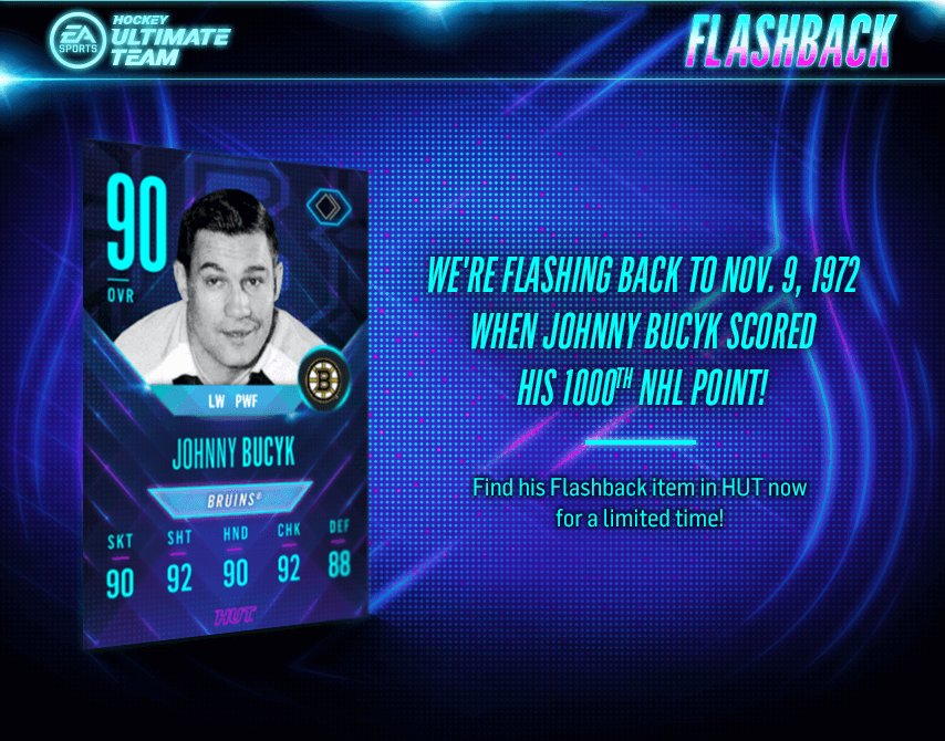 By the end of his career, Johnny Bucyk registered 1,369 points in 1,540 regular season games. #NHL18 https://t.co/N5OlRwogP2
