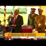 Hotuba ya Rais Magufuli akiwa na Rais Museveni mpaka wa Mutukula