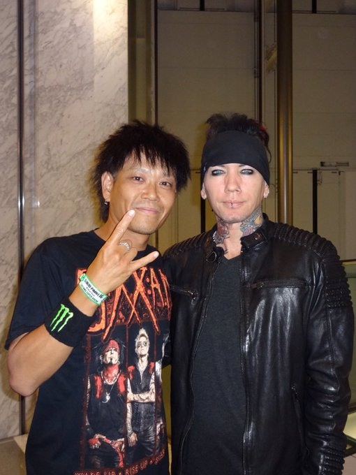 Happy Birthday to Dj Ashba    Here s a long-distance Happy Birthday to you from Japan