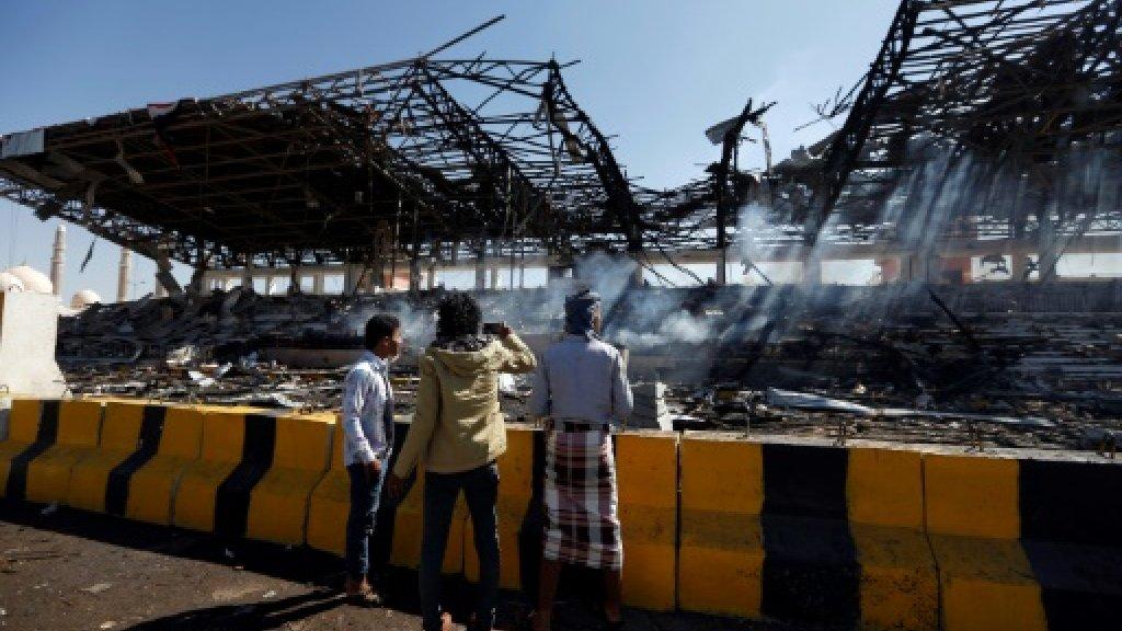 Saudi-led strikes hit defence ministry in Yemen capital: witnesses