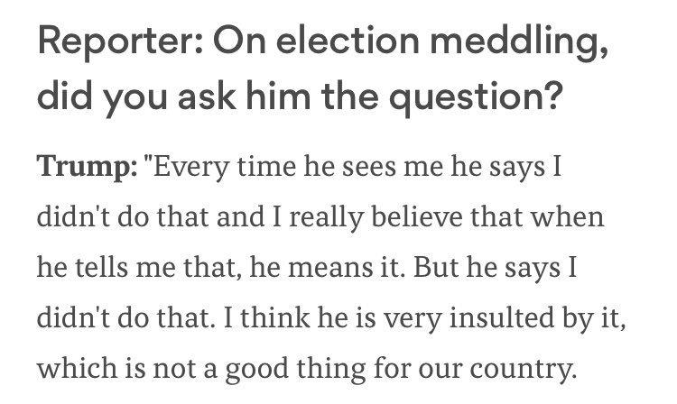 The Trump Doctrine: Don't Insult Putin. https://t.co/sejmwHzJCj https://t.co/gQ8w4EzgNN