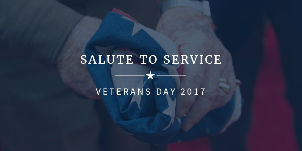 Today we honor and pay tribute to America's veterans. Thank you for your service. #VeteransDay https://t.co/Fs2FMgyuF6