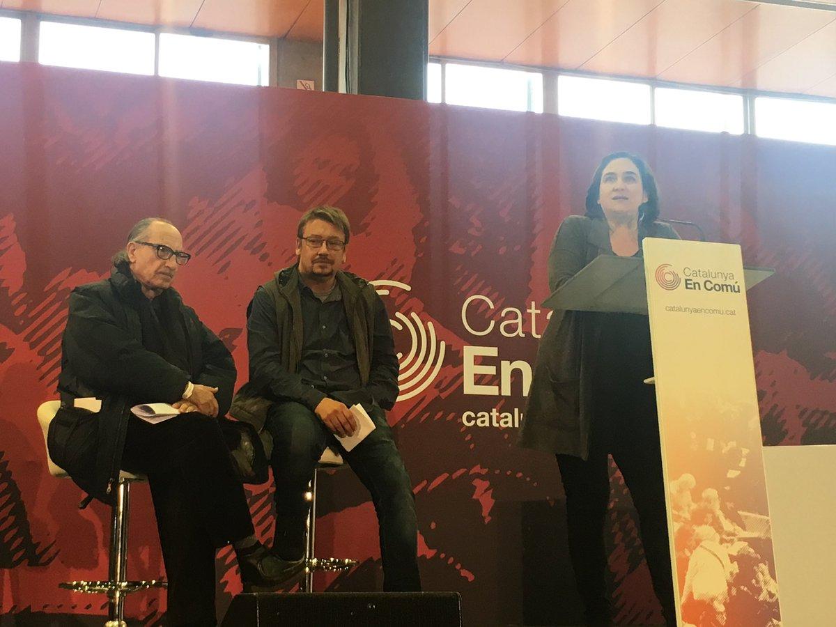 En Barcelona, en la Asamblea de @CatEnComu en la que se ha elegido como candidato a @XavierDomenechs