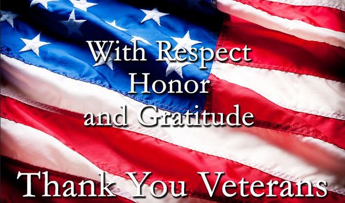 Happy Veterans Day!! Thank you to all of those who have served to protect our freedom! 🇺🇸 https://t.
