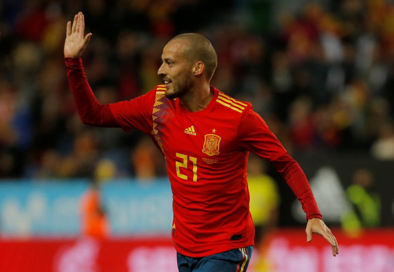 Silva leads Spain's assault on Costa Rica