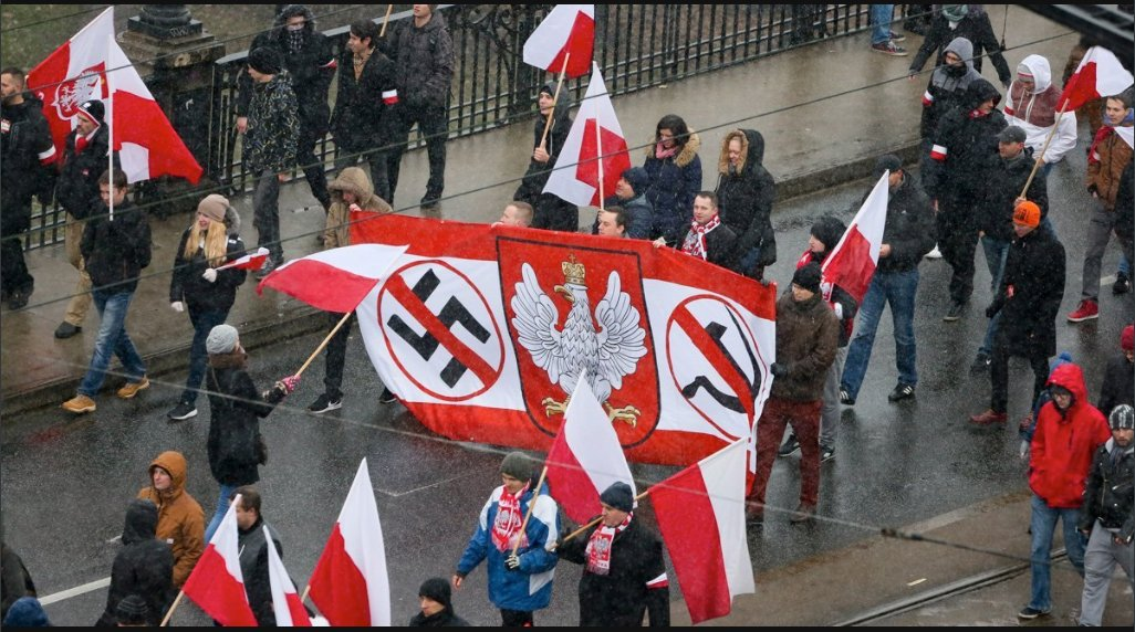 Call me crazy, but I doubt this Polish march is a pro-Nazi march.   There are subtle signs. https://t.co/ydK42UJzMZ