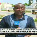 Governor's induction retreat cancelled again