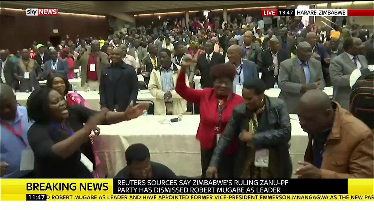 Zimbabwe ruling party sacks Ro mugabe