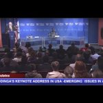 RAILA ODINGA KEYNOTE ADDRESS IN USA - EMERGING POLITICAL ISSUES IN KENYA AND THE WAY FORWARD
