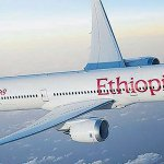 Ethiopian Airlines new Boeing Aircraft lands in Kilimanjaro