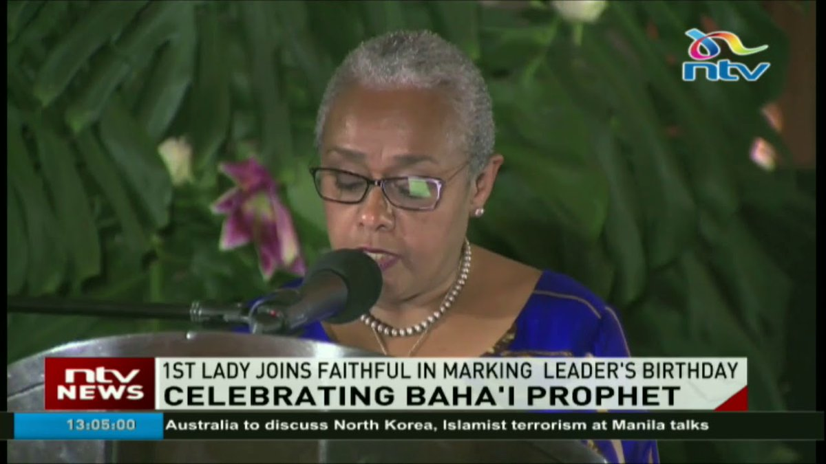 First lady joins Baha'i prophet celebrations