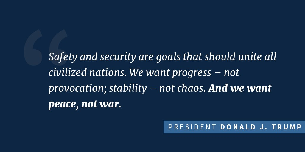 'Safety and security are goals that should unite all civilized nations.' Watch more: https://t.co/T3HMjTsWL2 https://t.co/Ttp7MFyqMp