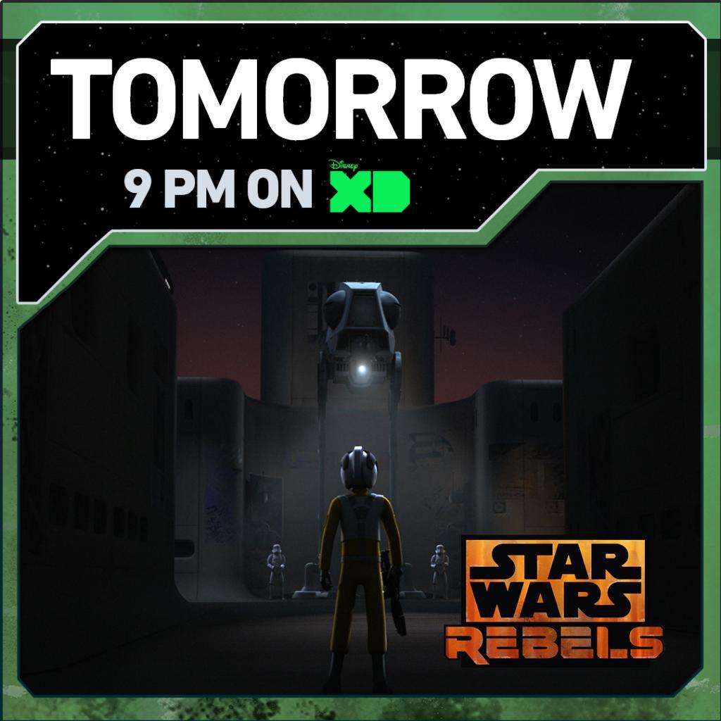 The 'Rebel Assault' begins in the #StarWarsRebels mid season finale. Tomorrow night at 9pm ET/PT on @DisneyXD. https://t.co/pWDp1TlbvT