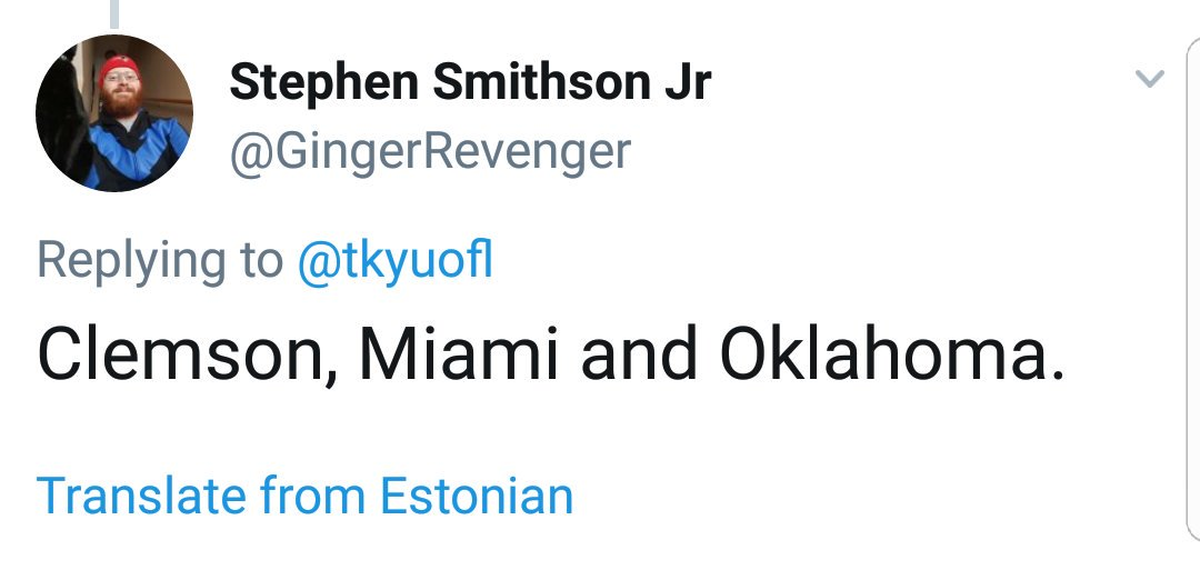 test Twitter Media - @GingerRevenger Hmm, I interesting picks.  Even more impressive that you apparently declared them in Estonian? LOL https://t.co/zajDHNHOAI