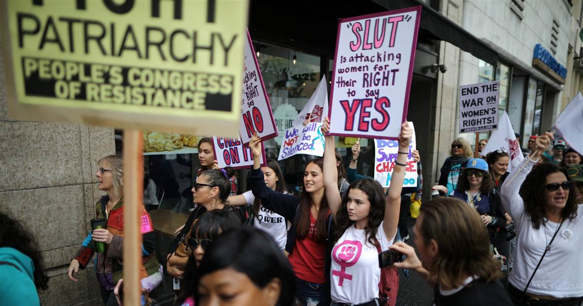 MeToo survivors march draws hundreds of supporters in California