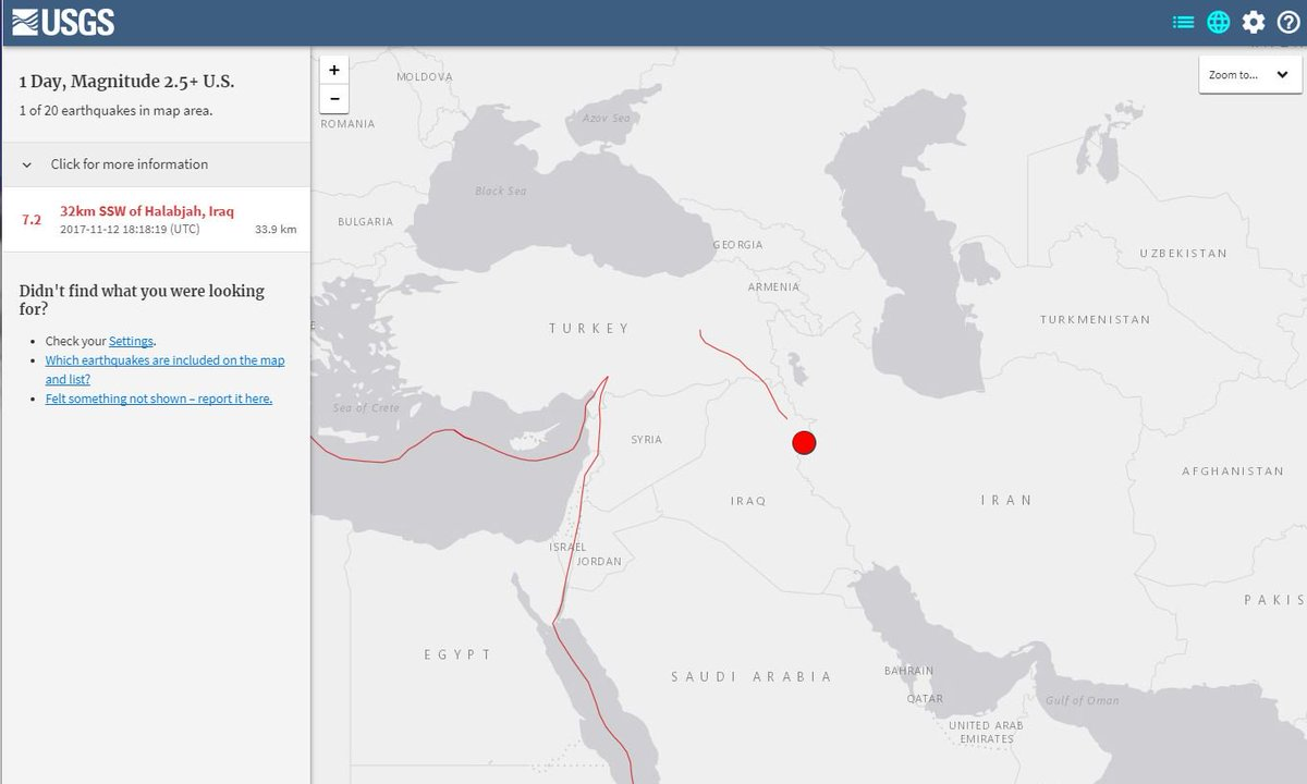 JUST IN: USGS reports 7.2-magnitude earthquake felt on Iraq-Iran border