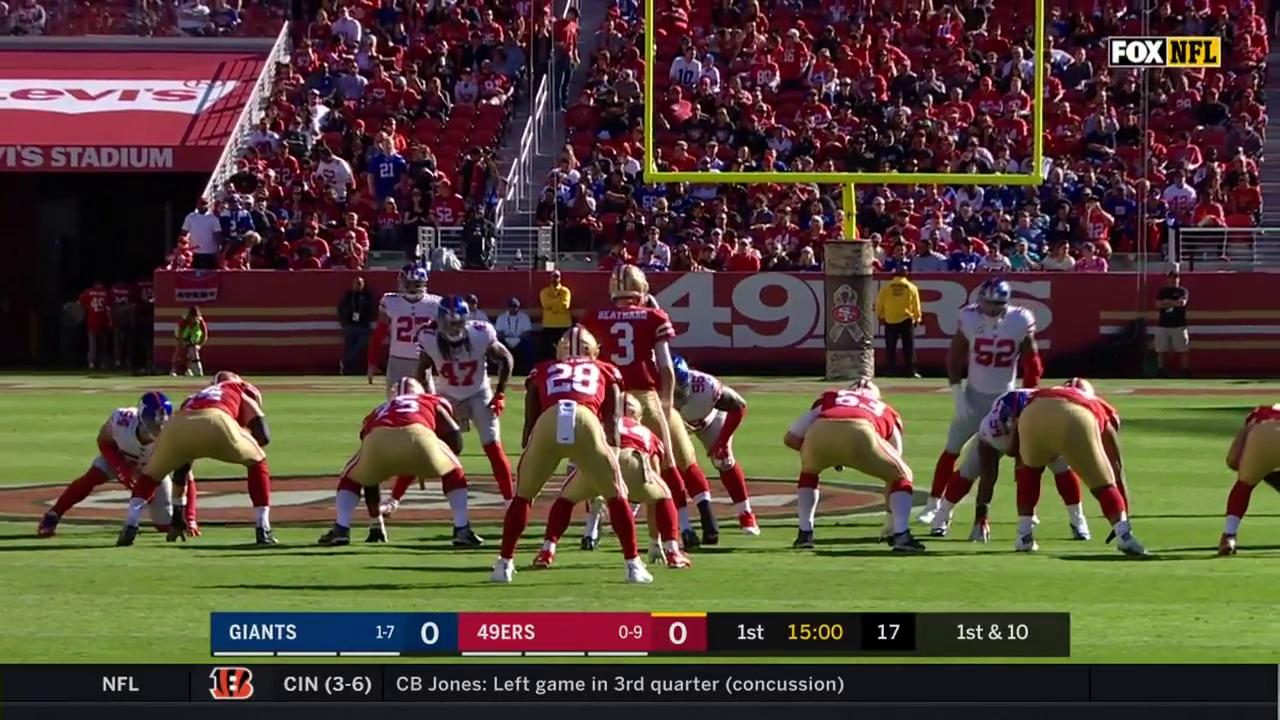 Watch it again as @ElGuapo picks up 28 on the ground. #NYGvsSF https://t.co/s1mZDbR6eT