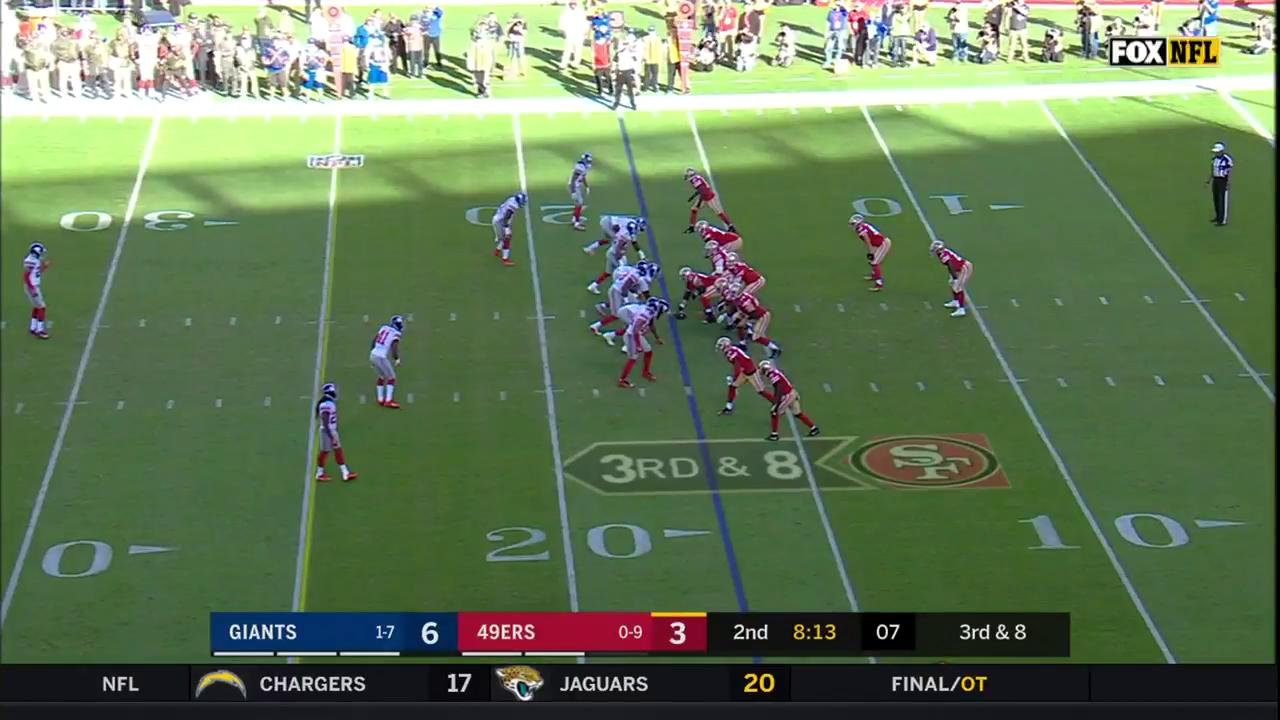 C.J. going DEEP to @flashg88dwin for the TD! 83 yards to the ��  #NYGvsSF https://t.co/snZKzSwVJB